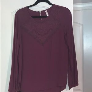 Maroon embroidered blouse